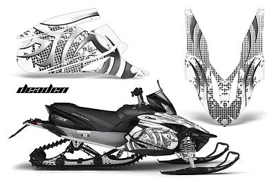 """YAMAHA APEX 2006-10 SNOWMOBILE GRAPHICS WRAP /""""THE DEMONS WITHIN/"""" CARBON EDITION"""
