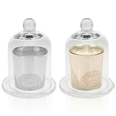 Glass Bell Jar Base Cloche Display Dome Base Scented Candle Gift Home Decorative