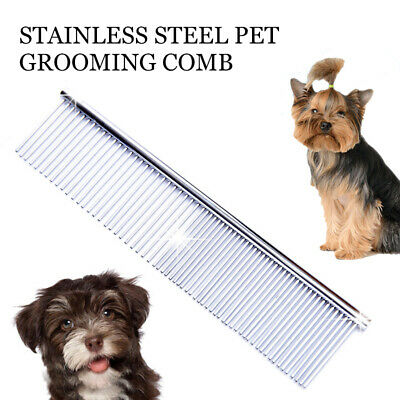 Cat Dog Stainless Steel Comb Hair Brush Shedding Flea For Pets Trimmer Grooming