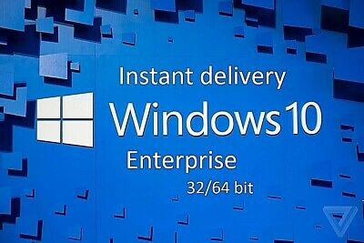 INSTANT Windows 10 Enterprise 32&64 Bit Activation Genuine Key Lifetime License