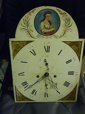 Antique 8 Day Longcase Clock Movement By Stewart Avchtarede 18.5ins By 13.25ins