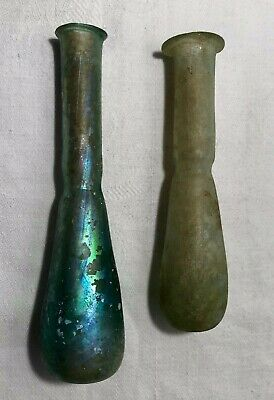 Two Antique or Ancient Holy Land  Persian  Glass Tear Vials