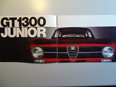 "ALFA ROMEO ""GT / Spider"" 1300 Junior - 1971 - French sales brochure, prospekte"