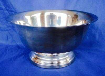 "Silverplate Bowl Poole Silver Co 68 EPCA Paul Revere 8"" Vintage Hollowware"