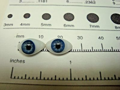 13 MM VINTAGE FRENCH GLASS PAPER WEIGHT EYES FOR DOLLS