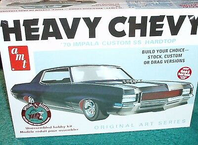 AMT 1970 Chevy Impala SS 454 Heavy Chevy Interior and Frame//Chassis Set 1//25