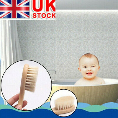 Newborn Baby Brush Wooden Hairbrush Natural Hair Brush Soft Bristles Scrub Tools