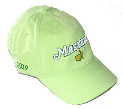 1fc6c5c0bb9 2019 MASTERS DATED (LIME) PERFORMANCE SLOUCH Golf HAT from AUGUSTA NATIONAL