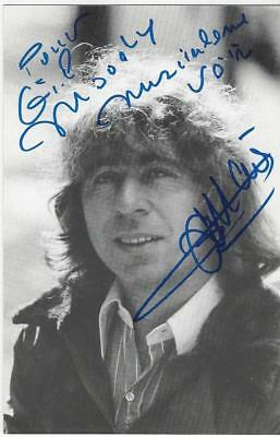 FRANCIS LAI, Awarded French Composer, GENUINE HAND SIGNED/INSCR. B&W PHOTOCARD