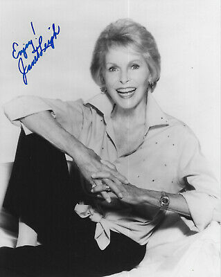 JANET LEIGH - movie actress 'Psycho', GENUINE HAND SIGNED 8X10 PHOTO
