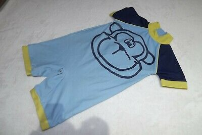 Next ~  Baby Boys Blue & Yellow Cheeky Monkey Swimsuit ~ Age 18 - 24 Months