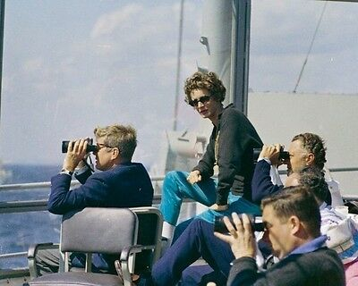 President John F Kennedy watches exercises at Fort Bragg New 8x10 Photo