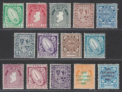 Ireland 1922-41 Selection to 1sh Mint inc Easter Rising Provisional Opts Faults