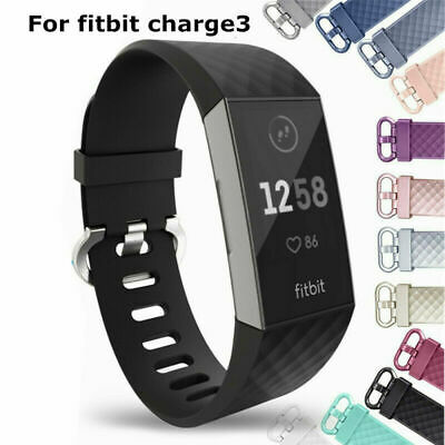 For Fitbit Charge 3 Silicone Soft Replacement Wrist Straps Watch Wristband UK