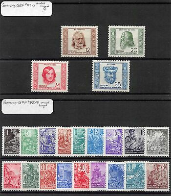 Lot of 37 Germany DDR MH Mint Hinged Stamps Scott Range 103 - 175 #141469 X R