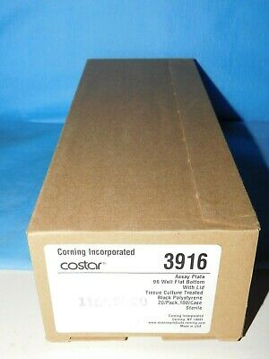 Corning Costar 3916 Sterile Assay Plate 96 Well Flat Bottom W/ Lid 20/Pk