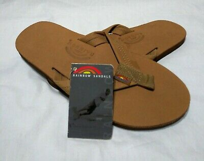 9ee1ca410f33 Rainbow Sandals 301ALTS Sierra Brown Single Layer Flip Flop Mens size Large  NWT