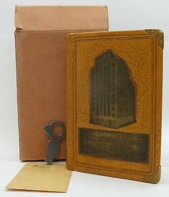 Vintage Aid Association for Lutherans Leather Vintage Coin Bill Book Bank LE621