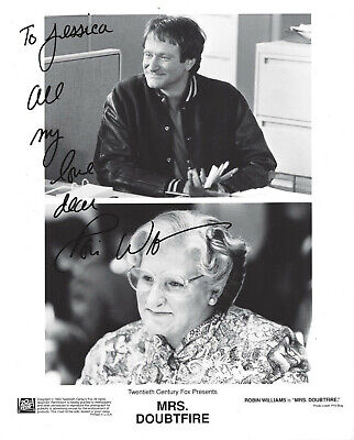 "Robin Williams AUTOGRAPHED 8""x10"" HAND SIGNED Photo as: MRS. DOUBTFIRE Movie1993"