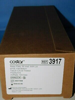 3917 Corning Costar 96 Well Assay Plates Sterile 20/Pk