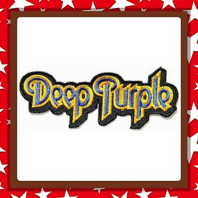 🇨🇦 Deep Purple Logo Rock Patch Embroidered Sew On/stick On Cloth/new 🇨🇦