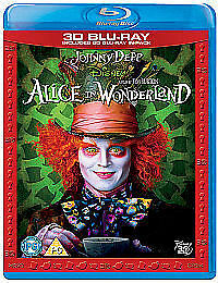 Alice In Wonderland (3D Blu-ray, 2010, 2-Disc Set)  NEW AND SEALED
