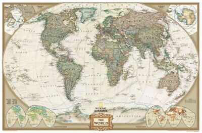 National Geographic: World Executive Wall Map - Laminated (46 X 30.5 Inches ...
