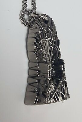 Game of Thrones Old Iron Throne Necklace Silver Pendant Fantasy Sci-Fi Kings 3D