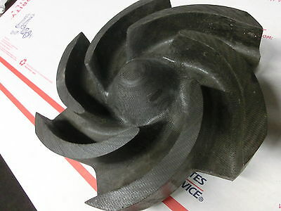 "6 VANE 8"" PUMP IMPELLER 7/8 IN BORE (can't find manufacture) Gould?"