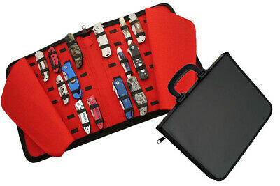 Folding Pocket Knife Storage Carrying Collection Display Case New For 40 Knives