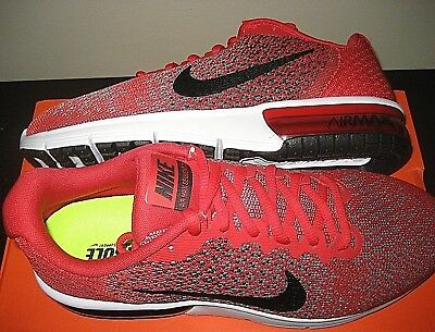 ad7f07be5fb Nike Mens Air Max Sequent 2 Running Shoes Red Black Size 10.5 852461 600 NR
