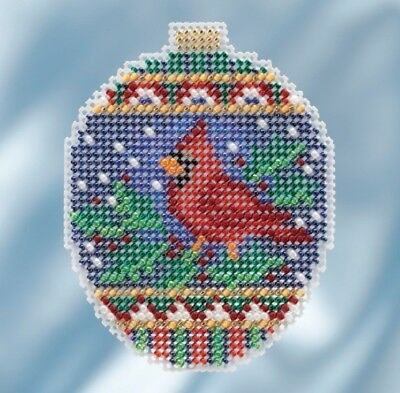10/% Off Mill Hill Beaded Holiday Collection X-stitch//Bead Kit-Crimson Cloisonné
