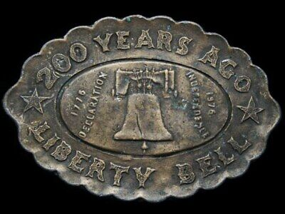 Id19130 Vintage 1976 ***200 Years Ago - Liberty Bell*** Brasstone Buckle