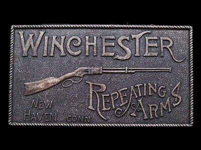 IB09126 NICE VINTAGE 1970s **WINCHESTER REPEATING ARMS** GUN BUCKLE