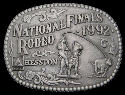 Id10159 Vintage 1992 ***Nfr*** National Finals Rodeo Hesston Buckle