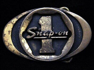 ID17166 VINTAGE 1970s ****SNAP-ON TOOLS**** SOLID BRASS BUCKLE