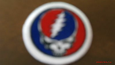 """Grateful Dead Steal Your Face Syf Embroidered Patch 1 3/4"""" Across Round New"""