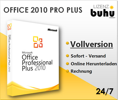 MS Office 2010 Professional Plus, 32&64 Bits, Pro Plus, Produktkey per E-Mail