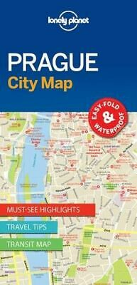 NEW Prague City Map By Lonely Planet Folded Sheet Map Free Shipping