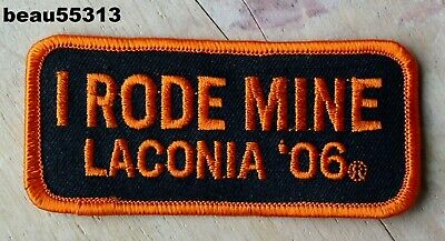 "2006 Laconia ""I Rode Mine""  Bike Rally Orange Vest Jacket Patch"