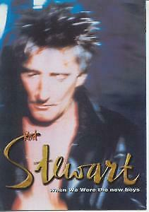 ROD STEWART When We Were The New Boys FLYER Japan Fold Out Promo Flyer For The