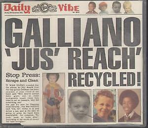 GALLIANO Jus' Reach Recycled CD UK Talkin Loud 1992 4 Track Edit B/w Hungry
