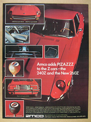 Vintage Advertisement Car Print Ad J397 1974 Fiat X19 X1//9 Amco Accessories