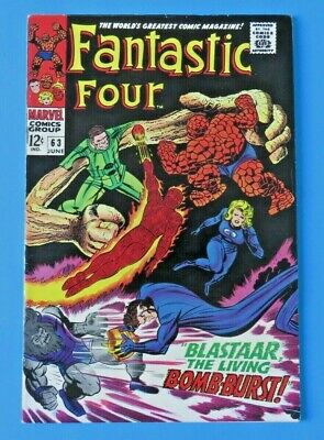 Fantastic Four #63 ~ Blastaar ~ 1967 Marvel Silver Age Comic Book ~ Fn+