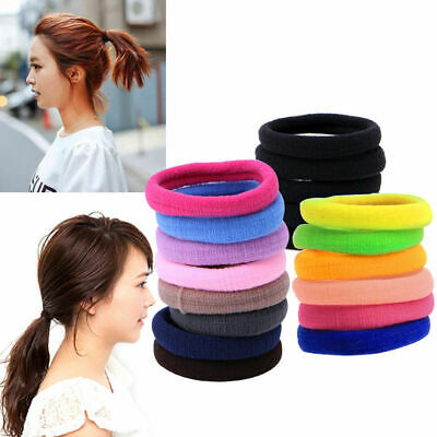 50 X Hair Band Ties Rope Ring Elastic Hairband Ponytail Holder For Women Girls