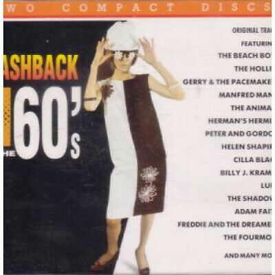 FLASHBACK TO THE 60'S Ex/Ex CD Europe Music For Pleasure 1991 42 Track 2 Disc