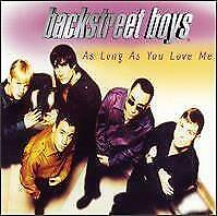 BACKSTREET BOYS As Long As You Love Me CD Europe Jive 1996 4 Track Radio