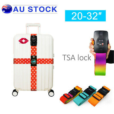 Password Luggage Strap Adjustable Packing Belt TSA Suitcase Customs Code Lock AU