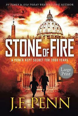 Stone of Fire: Large Print by J.F. Penn (English) Paperback Book Free Shipping!