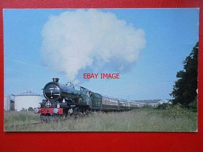 Postcard Gwr Loco No 6000 King George V At Bulmers Railway Centre 1977